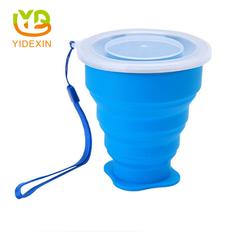 Silicone travel water cup