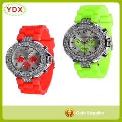 Silicone Diamond Watch