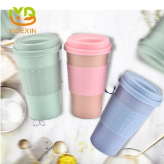 Travel Wheat Straw Coffee Drinking Cup