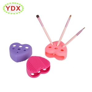 Silicone Makeup Brush Cleaner with Holder