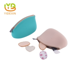 Silicone cosmetic lovely bag makeup pouch